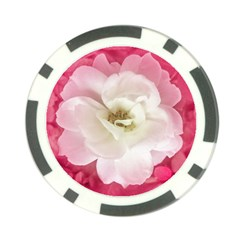 White Rose with Pink Leaves Around  Poker Chip (10 Pack) by dflcprints