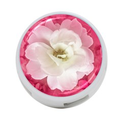 White Rose With Pink Leaves Around  4 Port Usb Hub (two Sides) by dflcprints