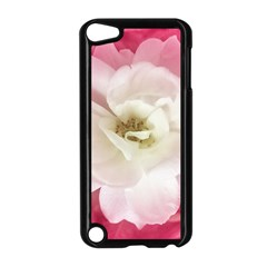 White Rose With Pink Leaves Around  Apple Ipod Touch 5 Case (black) by dflcprints