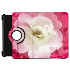 White Rose With Pink Leaves Around  Kindle Fire Hd Flip 360 Case by dflcprints