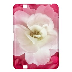 White Rose With Pink Leaves Around  Kindle Fire Hd 8 9  Hardshell Case by dflcprints