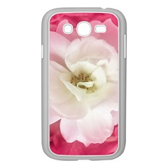 White Rose With Pink Leaves Around  Samsung Galaxy Grand Duos I9082 Case (white) by dflcprints