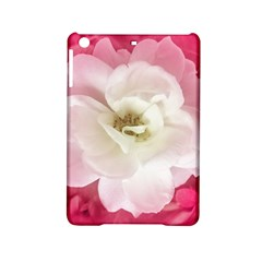White Rose With Pink Leaves Around  Apple Ipad Mini 2 Hardshell Case by dflcprints