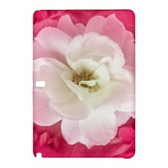 White Rose With Pink Leaves Around  Samsung Galaxy Tab Pro 10 1 Hardshell Case by dflcprints