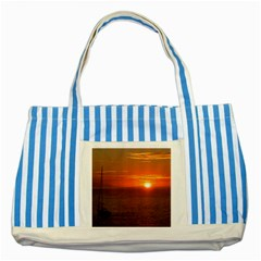 Good Night Mexico Striped Blue Tote Bag by cherestreasures