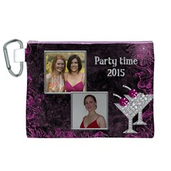 Party Time Canvas Cosmetic Bag (xl) By Deborah   Canvas Cosmetic Bag (xl)   Fet2ypae0rty   Www Artscow Com Front