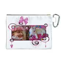 With Bling Canvas Cosmetic Bag (xl) By Deborah   Canvas Cosmetic Bag (xl)   Zy32uvqaqrwb   Www Artscow Com Back