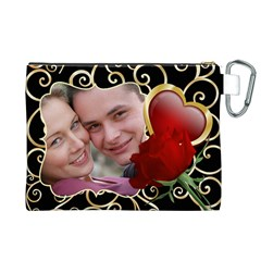 Sweet Love Canvas Cosmetic Bag (xl) By Deborah   Canvas Cosmetic Bag (xl)   Y52mv07fyz14   Www Artscow Com Back