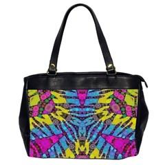 Crazy Zebra Print  Oversize Office Handbag (two Sides) by OCDesignss