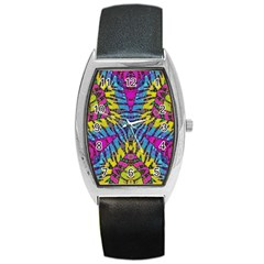 Crazy Zebra Print  Tonneau Leather Watch by OCDesignss