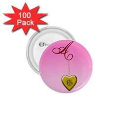 A Golden Rose Heart Locket 1 75  Button (100 Pack)  by cherestreasures