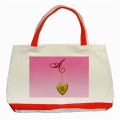 A Golden Rose Heart Locket Classic Tote Bag (red) by cherestreasures