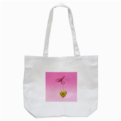 A Golden Rose Heart Locket Tote Bag (white) by cherestreasures