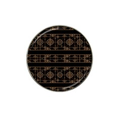 Dark Geometric Abstract Pattern Golf Ball Marker (for Hat Clip) by dflcprints