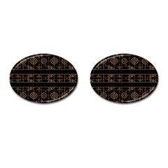 Dark Geometric Abstract Pattern Cufflinks (oval) by dflcprints
