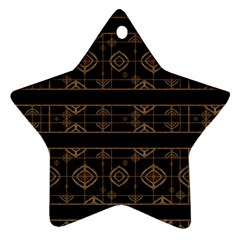 Dark Geometric Abstract Pattern Star Ornament (two Sides) by dflcprints