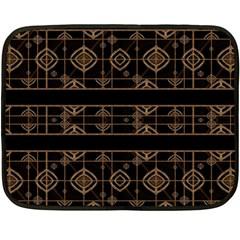 Dark Geometric Abstract Pattern Mini Fleece Blanket (two Sided)