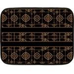 Dark Geometric Abstract Pattern Mini Fleece Blanket (Two Sided) 35 x27 Blanket Back