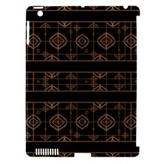 Dark Geometric Abstract Pattern Apple Ipad 3/4 Hardshell Case (compatible With Smart Cover)