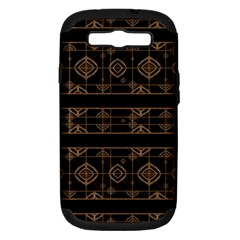 Dark Geometric Abstract Pattern Samsung Galaxy S III Hardshell Case (PC+Silicone) by dflcprints