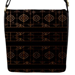 Dark Geometric Abstract Pattern Flap Closure Messenger Bag (small) by dflcprints