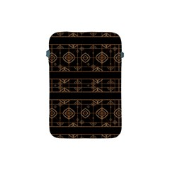 Dark Geometric Abstract Pattern Apple Ipad Mini Protective Sleeve by dflcprints