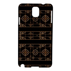 Dark Geometric Abstract Pattern Samsung Galaxy Note 3 N9005 Hardshell Case by dflcprints