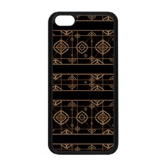 Dark Geometric Abstract Pattern Apple Iphone 5c Seamless Case (black) by dflcprints