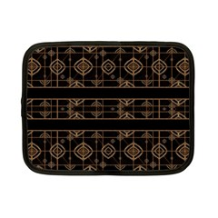 Dark Geometric Abstract Pattern Netbook Sleeve (small) by dflcprints