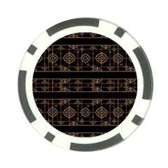 Dark Geometric Abstract Pattern Poker Chip (10 Pack) by dflcprints