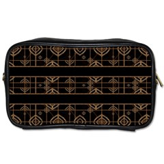 Dark Geometric Abstract Pattern Travel Toiletry Bag (two Sides) by dflcprints