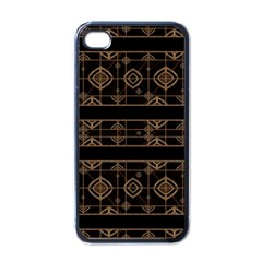 Dark Geometric Abstract Pattern Apple Iphone 4 Case (black) by dflcprints