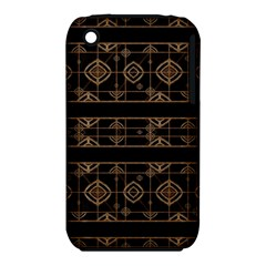 Dark Geometric Abstract Pattern Apple Iphone 3g/3gs Hardshell Case (pc+silicone) by dflcprints