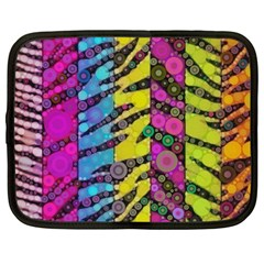 Crazy Animal Print Abstract  Netbook Sleeve (large) by OCDesignss