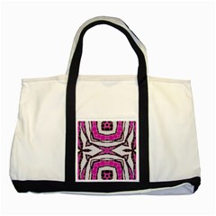 Pink Black Zebra  Two Toned Tote Bag by OCDesignss