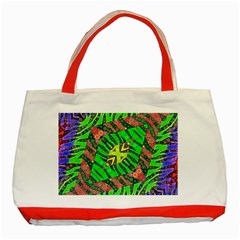 Zebra Print Abstract  Classic Tote Bag (red) by OCDesignss