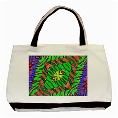 Zebra Print Abstract  Twin Sided Black Tote Bag by OCDesignss