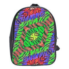 Zebra Print Abstract  School Bag (large) by OCDesignss