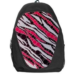 Red Zebra Bling  Backpack Bag by OCDesignss