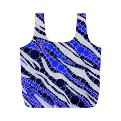 Blue Zebra Bling  Reusable Bag (m) by OCDesignss