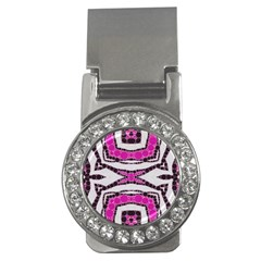 Pink Black Zebra  Money Clip (CZ) by OCDesignss