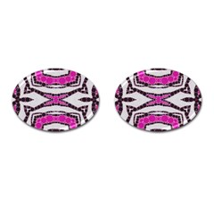 Pink Black Zebra  Cufflinks (oval) by OCDesignss