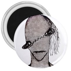 Vampire Monster Illustration 3  Button Magnet by dflcprints