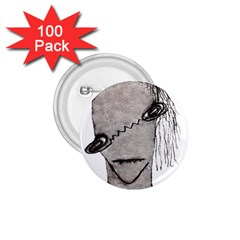 Vampire Monster Illustration 1 75  Button (100 Pack) by dflcprints
