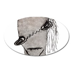 Vampire Monster Illustration Magnet (oval) by dflcprints