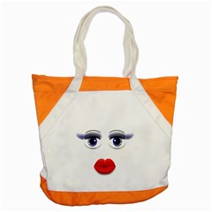 Face With Blue Eyes Accent Tote Bag by cherestreasures