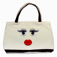 Face With Blue Eyes Classic Tote Bag (two Sides)