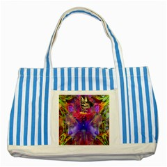 Journey Home Blue Striped Tote Bag by icarusismartdesigns