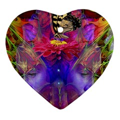 Journey Home Heart Ornament (two Sides) by icarusismartdesigns