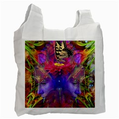 Journey Home White Reusable Bag (one Side) by icarusismartdesigns